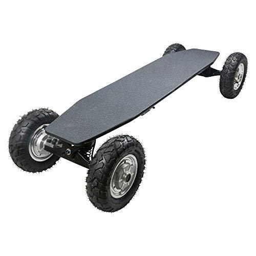 SSCYHT Skateboard Elettrico Fuoristrada con Telecomando, Doppio Motore 1650 W, velocità Massima 35 Km/H, Tavola Cruiser Motorizzata, Resistenza 20 Km