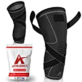 Knee Brace Compression Sleeve with Strap for Best Support & Pain Relief for...