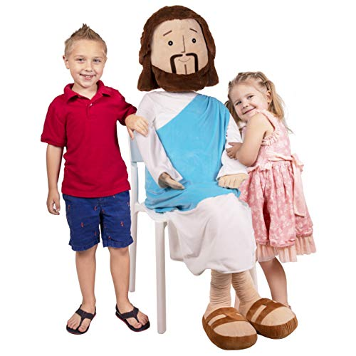 Tower of Babel's HUMONGOUS, Giant 6 Foot Plush Jesus Doll; Great for Christmas, Easter, Kids Bedrooms, Churches & Christians!