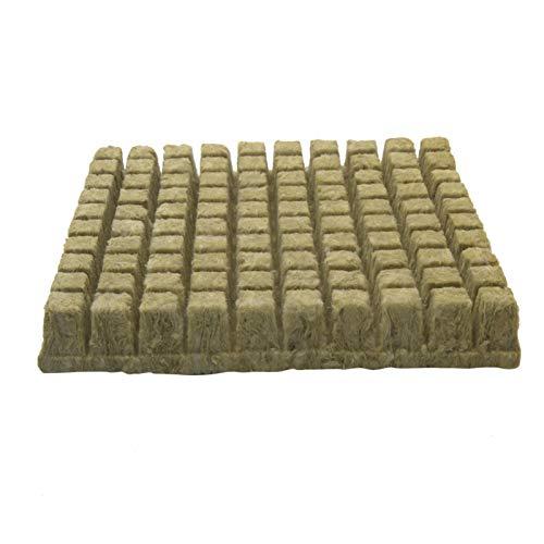 DASNTERED Rockwool Grow Cubes, Rockwool Starter Plugs, Hydroponic Grow Soilless Kultivierungsgarten Rockwool Cubes Mini Compress Base für den Pflanzenbau