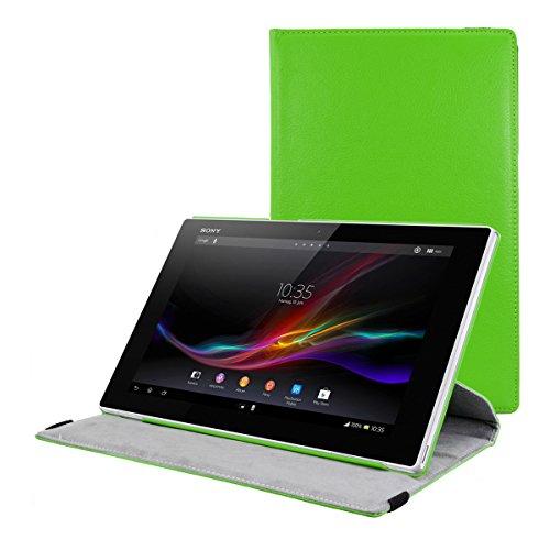 kwmobile Funda compatible con Sony Xperia Tablet Z - Carcasa de cuero sintético para tablet en verde