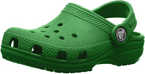 Crocs Classic Clog Kids Roomy fit Zuecos Unisex niños, Verde (Kelly Green 310), 19/20 EU
