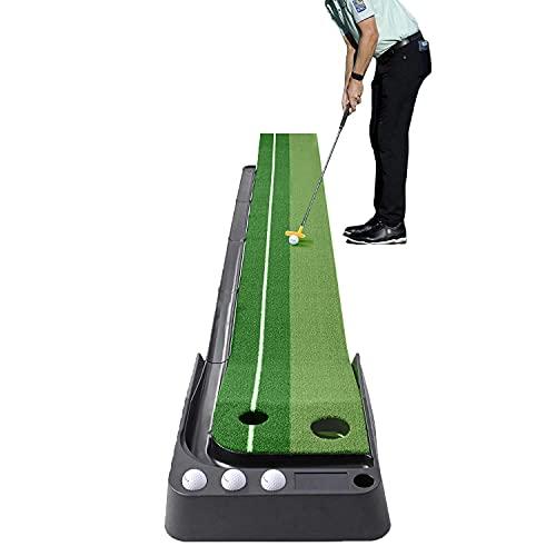 I&K PRO Indoor Golf Putting Mat - Adjustable Hole and Automatic Ball Return Mini Golfing Green -...