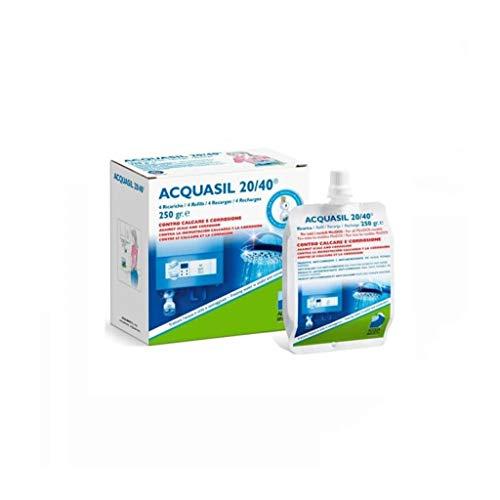 Acquasil 20/40 Ricarica Conf. 4x250 Gr Anticalcare Minidos Pc200 Acquabrevetti