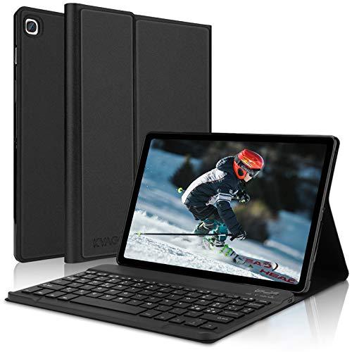KVAGO Custodia con Tastiera Italiano per Samsung Galaxy Tab S5e 10.5 2019, Cover Sottile Magnetica con Auto Wake Sleep,Bluetooth Tastiera Staccabile per Galaxy Tab S5e 2019(SM-T725 SMT720) -Nero