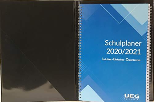 Lehrerkalender - Schulplaner LEO 2020-2021 DIN A4 + Leomappe schwarz - im Set +gratis: Wandkalender DIN A2 für das Schuljahr 2020-2021