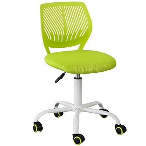 SoBuy FST64-GR Schreibtischstuhl Kinder Jugenddrehstuhl Drehstuhl Bürostuhl mit Rücklehne Arbeitsstuhl höhenverstellbar Grün Sitzhöhe: 46-58cm