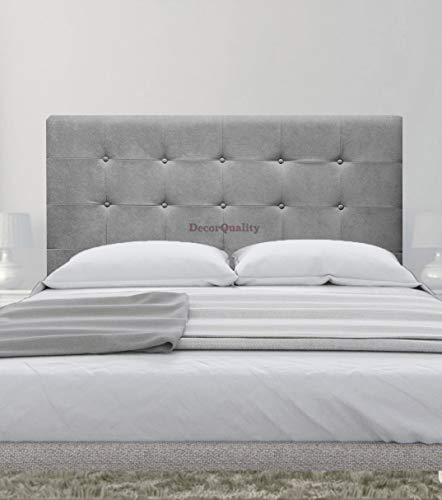 cabeceros de Camas Oslo cabeceros tapizados de Madera cabecero Acolchado cabecero Polipiel Blanco cabeceros para Dormitorio cabecero de Cama (Gris, 150 * 70)