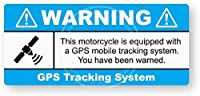 WARNING GPS盗難オートバイ 掲示板の金属サインブリキプラークの頑丈なレトロな外観30 * 15 cm