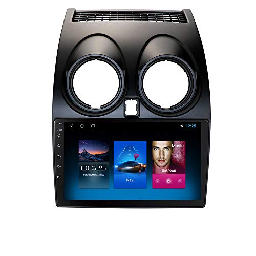 Autoradio Stereo con touch screen da 9 pollici Adatto per Nissan Qashqai (2006-2013), sistema Android 10 Supporta navigazione GPS Connessione USB Connessione telecamera per retrovisore SWC Bluetooth