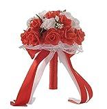 Ketamyy Bouquet de Novia Sosteniendo Flores Ramo Artificial