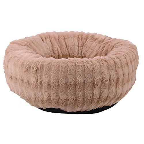 Cafopgrill rond huisdier warm nest hond kat zachte pluche Deep Dish Puppy Cuddler bedkussen (klein)