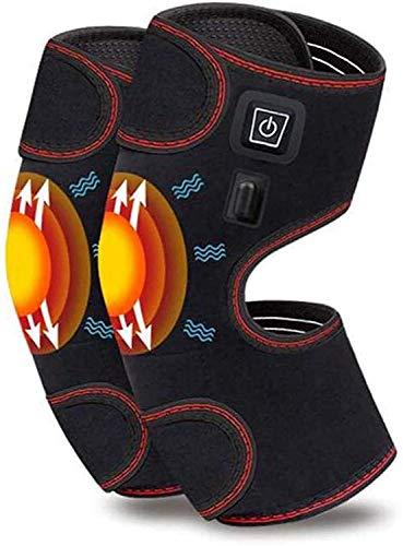 Pista de rodilla climatizada, soporte de rodilla USB para artritis, terapia térmica de envoltura eléctrica para conjuntos cálidos 3 engranajes engranajes, músculos ajustables, se adapta al brazo de la