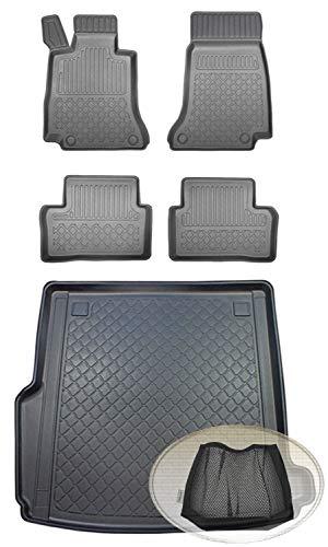 ZentimeX Z392834 Set Kofferraumwanne Gummifußmatten + Klettnetztasche (Laderaumwanne, Kofferraummatte, Automatten)
