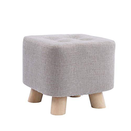 zyl Taburete Cuadrado del sofá del hogar de la Moda taburetes pequeños creativos de los pies Sillín Taburete para niños Banco de Tela Sala de Estar Mesa de té Silla de Madera