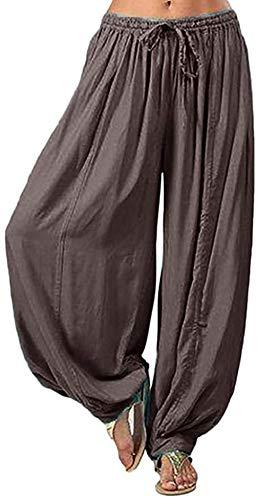 NOLLY Damen Kordelzug Taille Breite Bein Hose Lässig Sommer Yoga Sport Super Soft Soft Pilates,B-XL