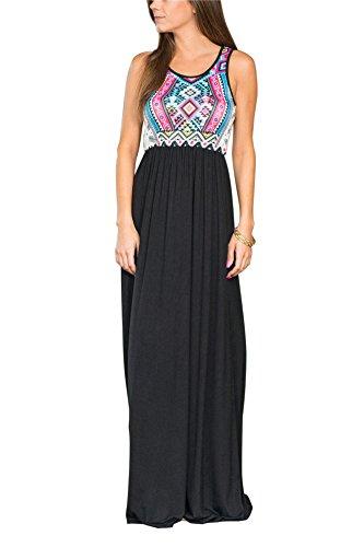 Damen Sommerkleider Maxikleider Bandeau Lange Cocktailkleid Strand Elegant - Mescara (XL, Rosa)