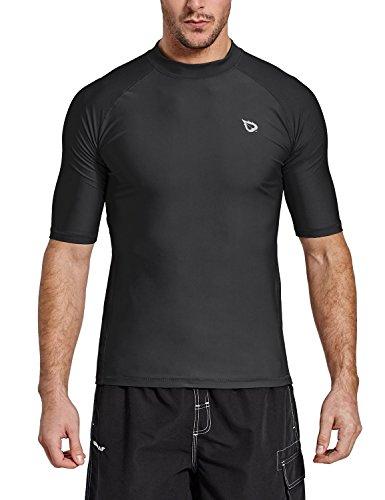BALEAF Men's Short Sleeve Rashguard Swim Shirt UPF 50+ Sun Protection Rash...