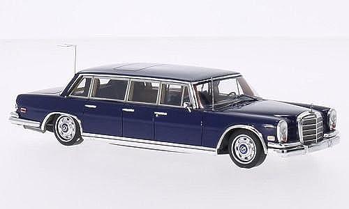 Mercedes 600 (W100) Pullman, blau, 1969, Modellauto, Fertigmodell, TrueScale Miniatures 1 43