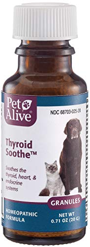 PetAlive Thyroid Soothe - Natural Homeopathic Formula for Common Symptoms of Overactive Thyroid in Dogs and Cats, 20 g