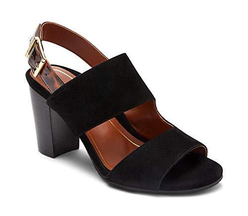 Vionic Women's Perk Bianca - Ladies Heel Sandal with Concealed Orthotic Arch Support 8 Medium Black US