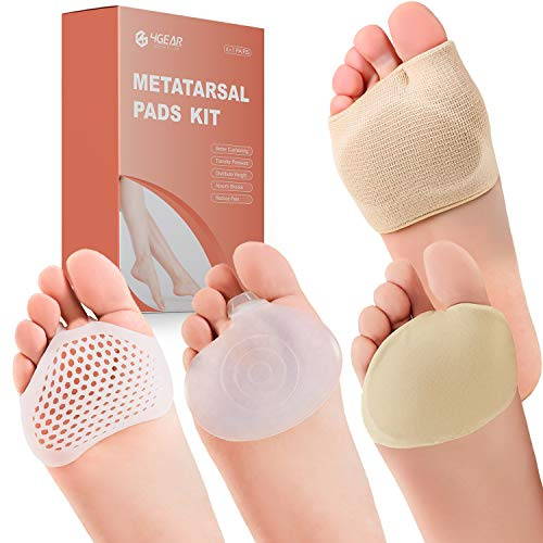 Metatarsal Pads Ball of Foot Cushions Kit - 8pcs- Metatarsal Gel Sleeves &...