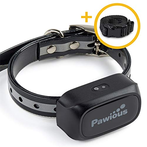 Pawious Dog Training Collar [Newest 2019] - Extention for Second Dog - Waterproof, Beep, Vibration, Safe Shock