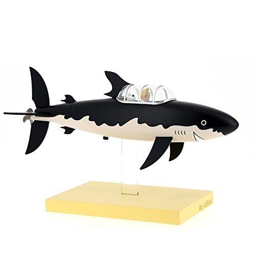 Moulinsart Figura de Resina El Submarino Tiburón-Colección Los Iconos, Adultos Unisex, Negro, Tamaño Único