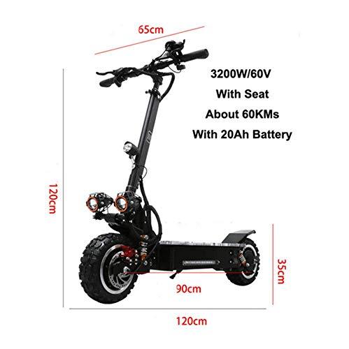 3200W Dual Suspensions Max Speed 90 km/h Off Road Motorfiets Elektrische Scooter Voor volwassenen 3