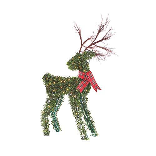 NOMA 4.4 Ft. Pre-Lit Light Up Topiary Winter Garden Reindeer | Outdoor...