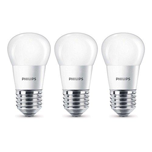 Philips E27 LED 4 Watt ersetzt 25 Watt 2700K Warmweiß 250lm Höhe 87mm Ø 45mm matt, 8718696474969-3er-Pack