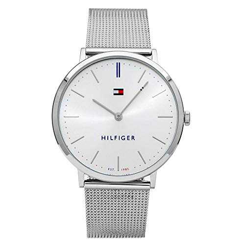 Tommy Hilfiger Unisex Erwachsene Analog Quarz Uhr mit Edelstahl Armband 1781690