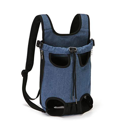 PETCUTE Mochilas para transportador Perros Grandes y Medianas Piernas Bolsa de Transporte para Mascotas Gatos Ajustable para para Caminatas, Viajes