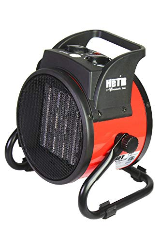HeTR Portable Space Heater 1500 Watt Forced Air Heater with Ceramic Heater Element and Overheat Protection for Office Home Garage Workshop, ETL Listed Electric heaters Space