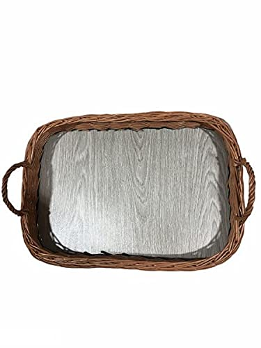 Rattan im Trend Weidentaby - Vassoio rettangolare in vimini, colore: Marrone