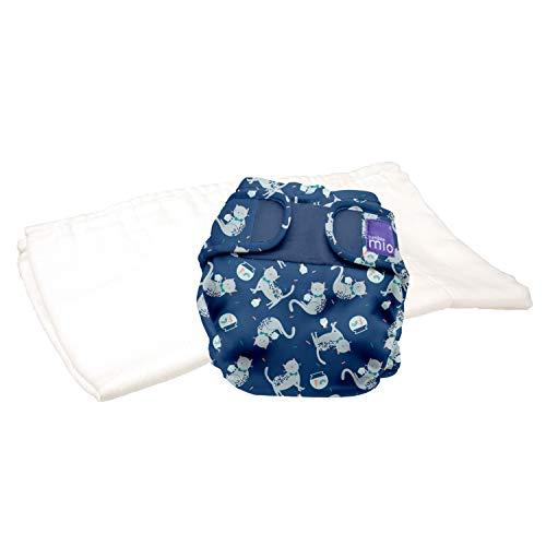 Bambino Mio, mioduo pannolino lavabile in due pezzi, festa felina, taglia 2 (9 kg+)