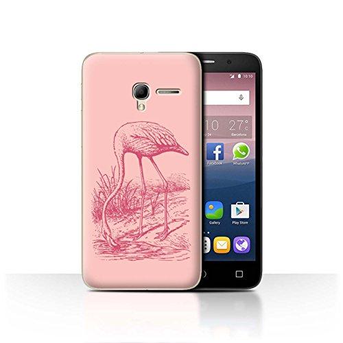 Stuff4® Phone Case/Cover/Skin/ALC-CC/Cute Flamingo Cartoon Collection Alcatel Pop 3 5