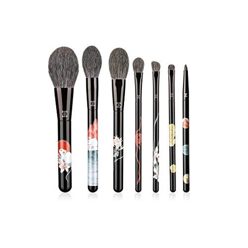 LHY- Maquillage Brush Set Noyer Bois Hui 7 Crème Contour des Yeux Ombre Fard à Joues Poudre Pinceau Ensemble Complet de Advanced Set Pinceau Quotidien Mode
