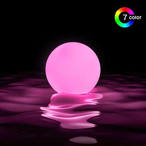 LOFTEK Led Pool Balls Lights,Color Changing Floating Led Pool Light Waterproof IP65,Battery LED Ball Lights,Hot Tub Glow Balls,Bath Toys,Pool Toys,Night Lights,Glow Beach Ball Outdoor Indoor (2 Packs)