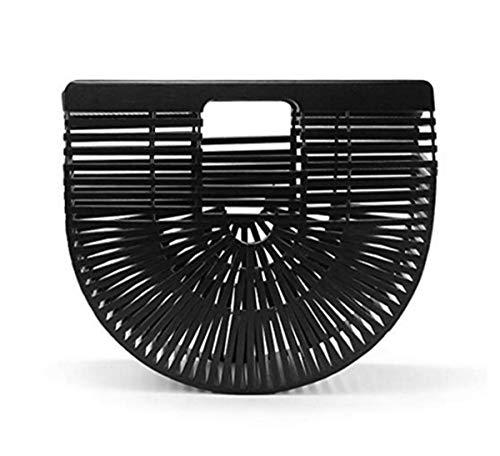 Rattan Bag, Women Bamboo Handbag Basket Bag Handmade Tote Bag Top Handle Bag Straw Spring Summer Sea Beach Bag