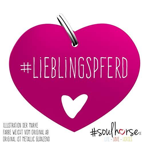 Soulhorse Lieblingspferd pink Kleiner Glücksbringer Marke Anhänger für Pferdezubehör Halfter Trense Zaumzeug Sattel Vorderzeug