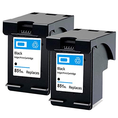 Cartucho de tinta 851 855, repuesto para impresora HP DeskJet 7108 4168 6318 D5168 Officejet 6208 6210 Photosmart 2575, negro y negro