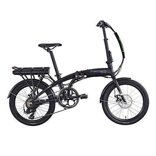 BENELLI Electric Bike City Zero N2.0 DISC 20 Inch Foldable 250W Motor New for Trunk Subway Bus Office Home with 36V 6.6Ah Samsung Lithium-ion Battery (Matt Black)