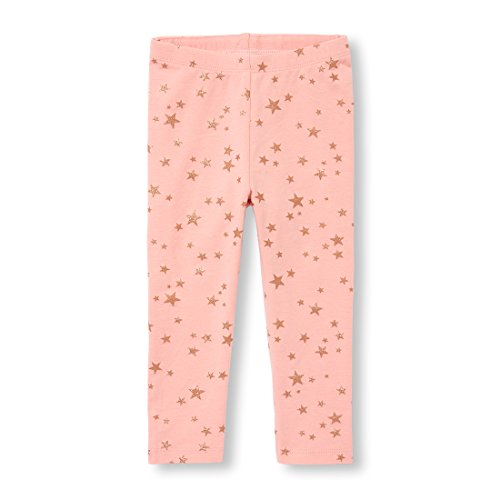 The Children's Place Baby Girls Star and Dot Printed Legging, SACHETPINK, 12-18MOS