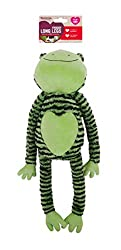 A soon to be beloved comfort toy for your dog promotes their natural behaviours such as foraging, exploring and playing. Toys are fantastic at preventing problem behaviours Froggy long legs contains five squeakers in total! soft toys hold scents whic...