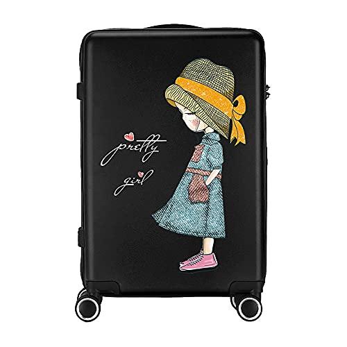 SGCDKSP Ruedas universales, Embarque Equipaje de Viajes, Caja de la Carretilla Infantil,Negro,26 Inches