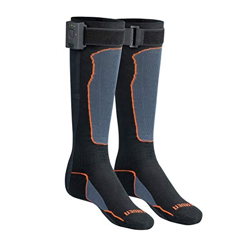 30seven Elektrisch Beheizbare Socken Für Herren Und Damen, Warme Füße mit die Thermosocken, Outdoor, Schwarz, Lang