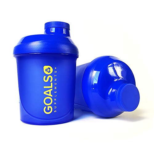 Shaker coctelera suplementos 300 ml - goals supplements