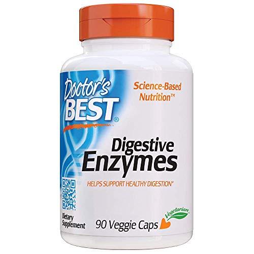 Doctor's Best | Verdauungsenzyme (Digestive Enzymes) | 90 vegane Kapseln | glutenfrei