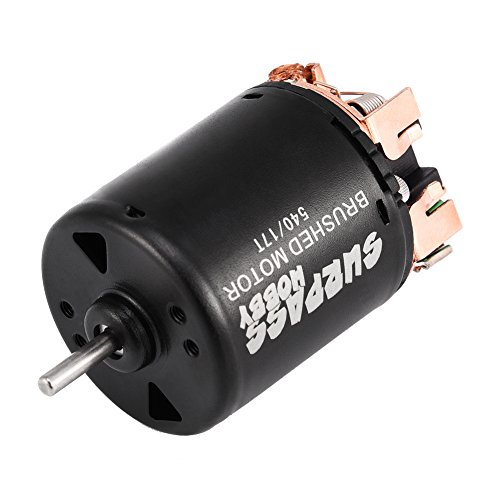 Dilwe RC Auto Gebürstet Motor, 4 Pole Legierung 540 Sensorless Gebürstet Motor 17 T / 27 T / 45 T / 80 T / 21 T für 1/10 RC Auto LKW(17T)